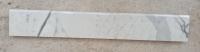 BIANCO CARRARA VENATO 1^scelta zoccolino lucido con costa mezzotoro Formato: 10x2 cm lunghezza a correre Quantità: 47,00 ml Prezzo: € 17,00/ml